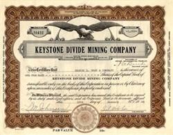 Keystone Divide Mining Company - Nevada 1935