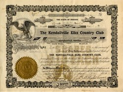 Kendallville Elks Country Club - Kendallville, Indiana 1913
