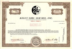Kelly Girl Services, Inc. (William Kelly as President) - Delaware