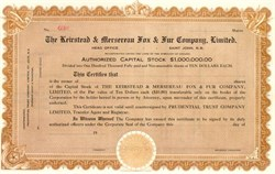 Keirstead and Mersereau Fox and Fur Company of Canada