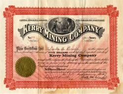 Kerry Mining Company - New York 1907