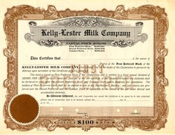 Kelly-Lester Milk Company - Pennsylvania