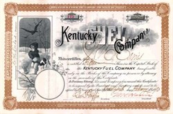 Kentucky Fuel Company 1890 - Classic Little Girl Vignette