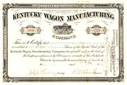 Kentucky Wagon Manufacturing Company  (  Old Hickory Wagon Vignette ) - Louisville, Kentucky 1914