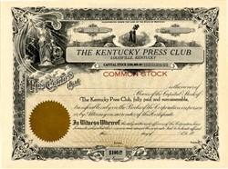 Kentucky Press Club - Louisville, Kentucky - 1920's