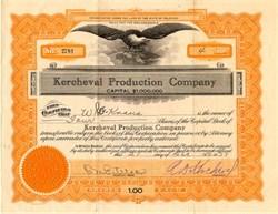 Kercheval Production Company - Delaware 1927