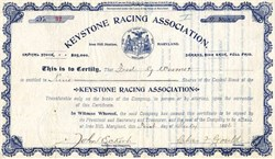 Keystone Racing Association - Maryland 1896