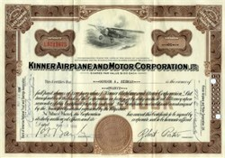 Kinner Airplane and Motor Corporation - California 1936