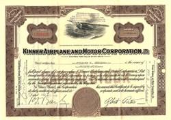 Kinner Airplane and Motor Corporation - California 1936