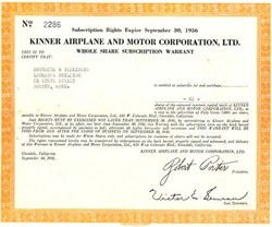 Kinner Airplane and Motor Corporation, Ltd. - 1936