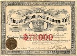 Kingsley Brothers Creamery Co. - Virginia 1888