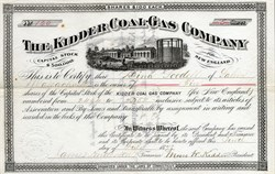 Kidder Coal-Gas Company - Connecticut 1878