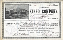 Kineo Company (RARE Issued) - Kineo, Maine - 1902 - Moosehead Lake and Mt. Kineo in Vignette
