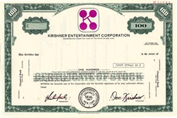 Kirshner Entertainment Corporation - Don Kirshner as president