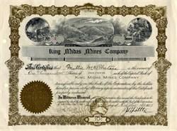 King Midas Mines Company - Utah 1909