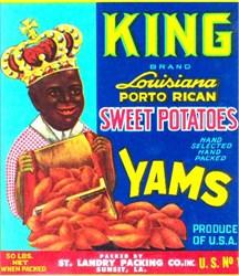 King Brand Sweet Potatoes Label