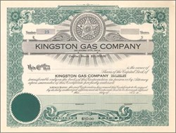 Kingston Gas Company - Oklahoma 1930's
