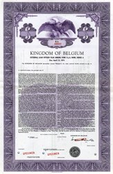 Kingdom of Belgium Bond External Loan Bond - 1959