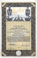 Kingdom of Hungary State Bond 1916 - Budapest, Hungary