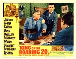 King of the Roaring 20's Lobby Card starring David Janssen and Dianne Foster - 1961