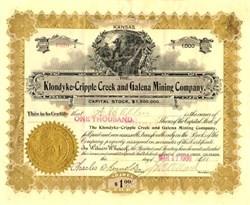 Klondyke - Cripple Creek and Galena Mining Company - Kansas 1900