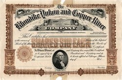 Klondike, Yukon, and Copper River Company - RARE Printer's Proof / Specimen Chicago, Illinois