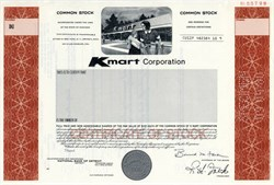 Kmart Corporation Stock Certificate - Michigan 1980