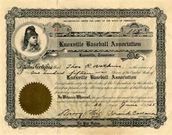 Knoxville Baseball Association - Tennessee 1925
