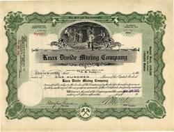 Knox Divide Mining Company - Esmeralda, Nevada 1920