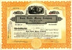 Knox Divide Mining Company - Esmeralda, Nevada 1921