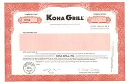 Kona Grill - Delaware
