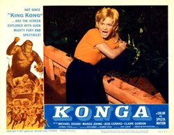 Konga Lobby Card Starring Michael Gough and Margo Johns - 1961