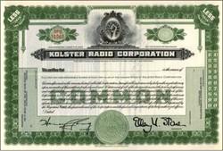 Kolster Radio Corporation 1920's