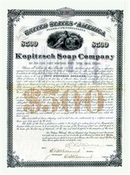 Kopitzsch Soap Company 1892 - Schulykill, Pennsylvania