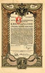 Dritte Funfeinhalbprozentige Osterreichische Kriegsanleihe - Austria 1915