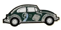 """VW Beetle - Kool Super Lights VW Volkswagen Original Bug Beetle  9"""" Vinyl sticker - 1970's"""