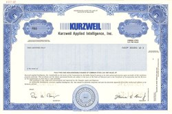 Kurzweil Applied Intelligence, Inc. ( Acquired by Lernout & Hauspie) - Delaware 1996