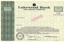 Lakewood Bank and Trust Company - Texas 1981