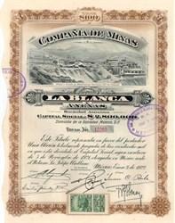 La Blanca Mining Company, Mexico 1922