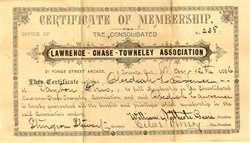 Lawrence-Chase-Townley Association  (Fraud) - Toronto, Canada 1886