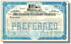 Laclede Gas Light Company - Original Dow Average Company - 1909