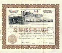 Lackawanna Coal and Lumber Company - West Virginia 1912