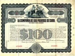 La Compania De Los Puertos De Cuba (The Cuban Ports Company ) Rare Specimen - Havana, Cuba