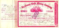 La Crosse Gold Mining Company 1896 - Colorado