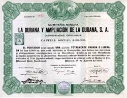 Mexican Mining Company 1912 - Mexico