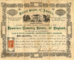 Lawrence -Townley Estate of England (Fraud) - Washington DC 1869