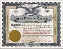 Lagoon Plantation Company 1913