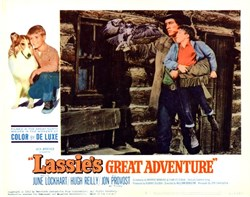 Lassie's Great Adventure Starring June Lockhart, Hugh Reilly, and Jon Provost - 1963