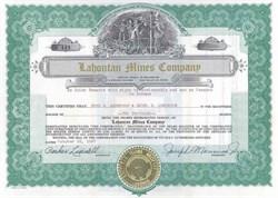 Lahontan Mines Company - Nevada