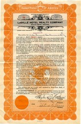 Lasalle Hotel Realty Company - Southbend, Indiana 1921
